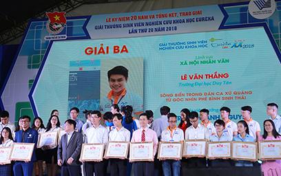 Sinh viên Duy Tân giành giải Ba tại Giải thưởng Sinh viên Nghiên cứu Khoa học Euréka 2018
